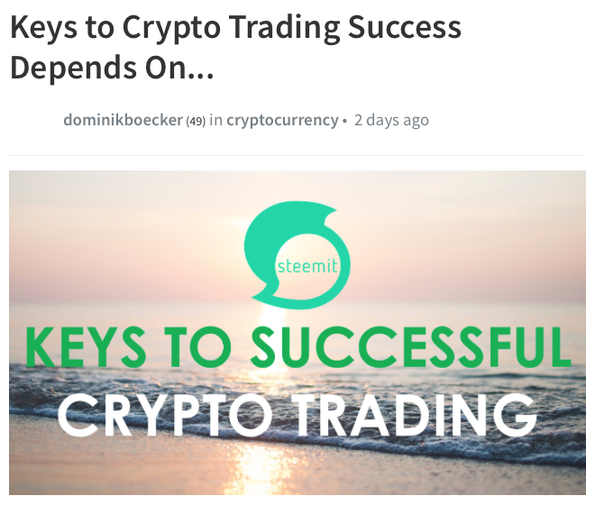 Keys to Crypto Trading Success.